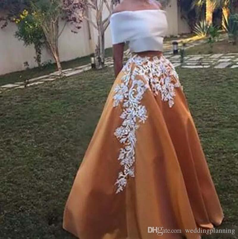 100% Our Factroy Model Real Image Cheap Prom Skirts Bateau Neck Off Shoulder Appliques Satin Party Floor Length Gowns Plus Size Skirt