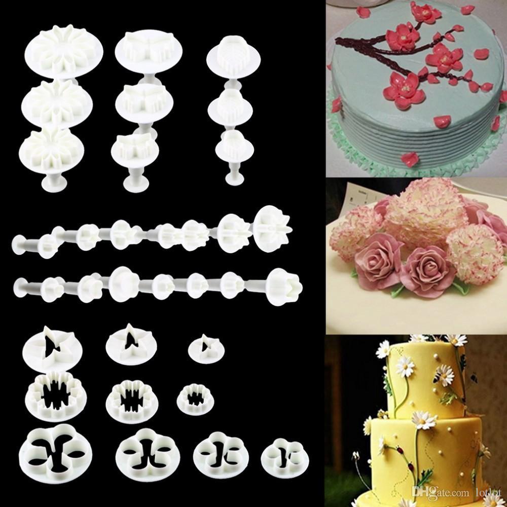 DIY 굽기 도구 봄 인쇄 케이크 도구 세트 33 설탕 케이크 엠보싱 다이 세트 10 세트