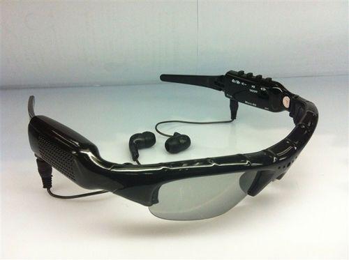 Sunglasses Camera with MP3 player Portable Eyewear DVR HD mini camcorder Sunglasses mini DVR Audio Video Recorder