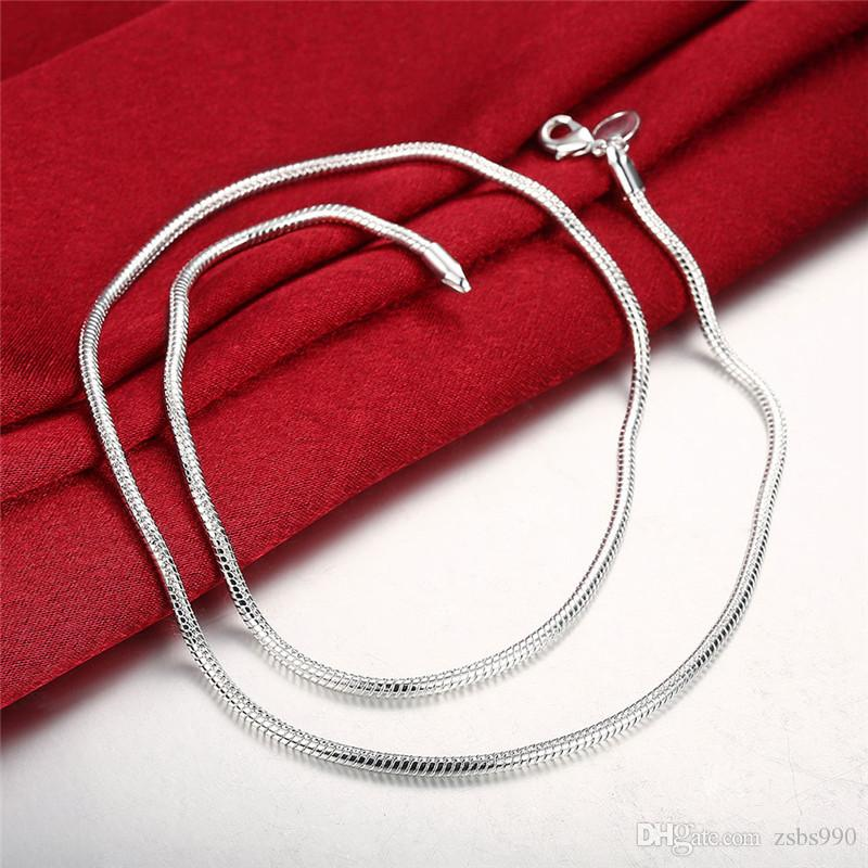 Best-selling 925 silver the 3MM snake chain necklace bracelet charm jewelry set