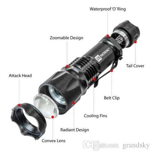 أرخص مضيا J5 التكتيكية V1-PRO 300 التجويف فائقة مشرق المصباح أفضل أدوات للمشي ، الصيد ، الصيد والتخييم