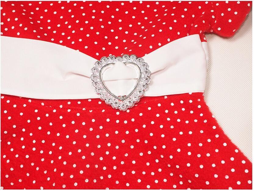 아기 산타 클로스 의상 어린이 크리스마스 의류 소녀의 빨간 드레스 소녀 아이의 새해 복장 귀여운 소녀 드레스