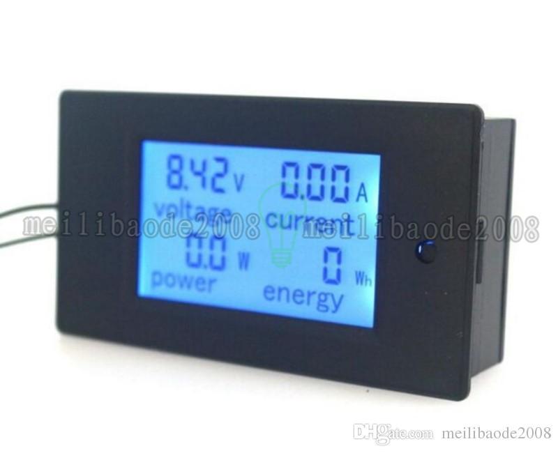 ДЦ6.5~100В Амперметр вольтметр Вольт Ампер энергии метр с голубой подсветкой ЖК-цифровой дисплей 50А 100А дополнительный MYY