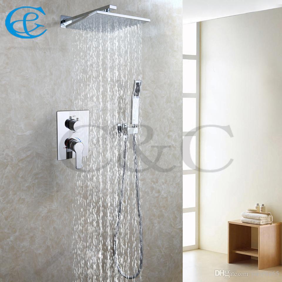 2018 Bathroom Shower Set 10 Inch Wall Mounted Brass Chrome Rain ...