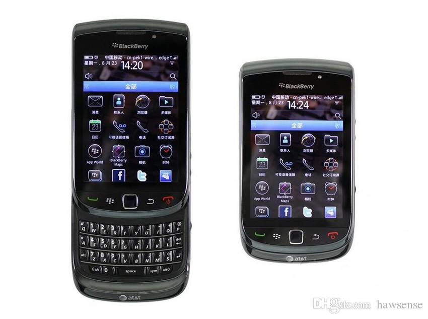 """Refurbished Original Blackberry Torch 9800 3G Slide Phone 3.2"""" Touch Screen + QWERTY Keyboard 5MP Camera Unlocked Mobile Cellphone DHL"""