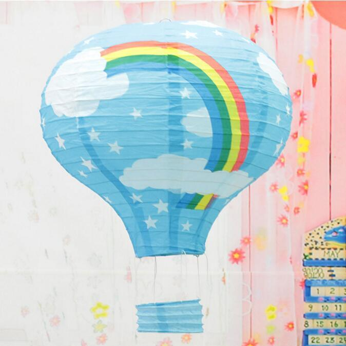 Eco-Friendly 12 Inch Hot Air Balloon Paper Lantern for Wedding Party Birthday Decorations Kids Gift Craft 30CM