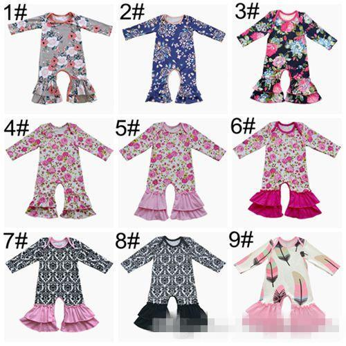 best fall 2018 baby christmas pajamas one piece baby girl rompers floral jumpsuit baby romper long sleeve girls boutique clothing onesies clothes under