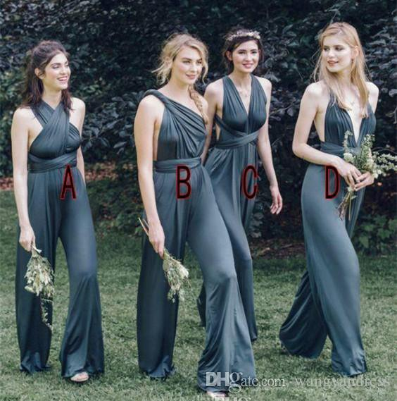 New Design Bridesmaid Dresses Bridesmaid Jumpsuit Pleat Chiffon