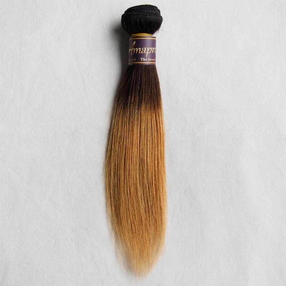 Ombre Malaysian Hair 1B/Burgundy 1B/27 1B/30 2 Tone Color Ombre Short Straight Virgin Hair 50g