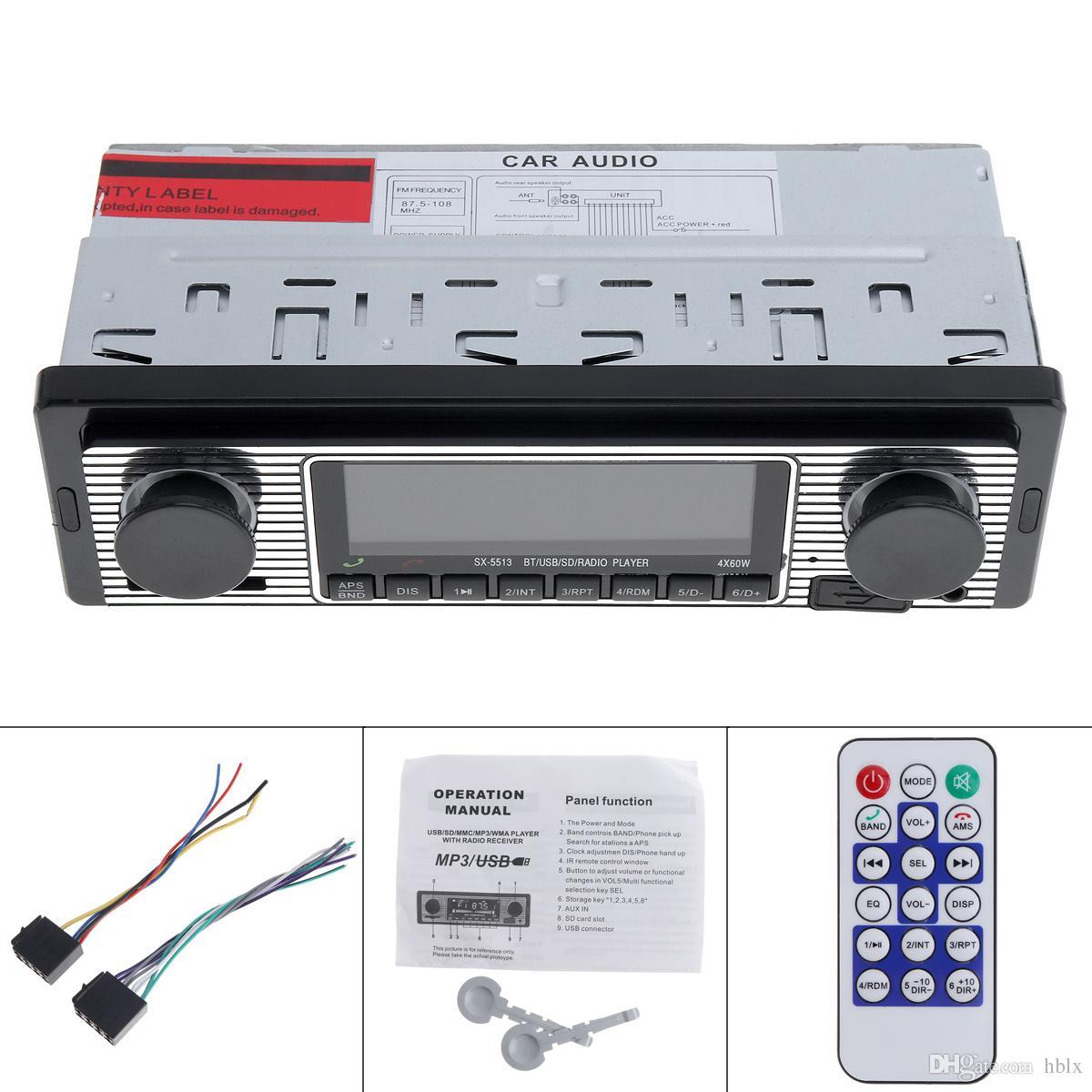 12V Bluetooth Autoradio MP3 Player Fahrzeug Stereo Audio Unterstützung FM / USB / SD / AUX mit Fernbedienung CAU_01Z