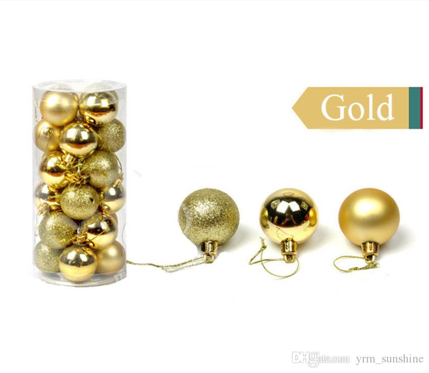 Set Christmas Tree Xmas Balls Decorations Baubles Wedding Party Ornament Parties Decorations 3-Finish, 1.18'' in