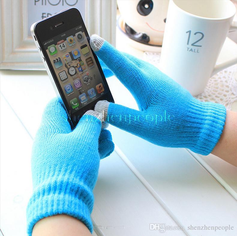téléphone mobile laine tricot Gants tactiles à écran tactile Hiver chaud Gants Téléphone mobile écran tactile Conductive Gants tactiles