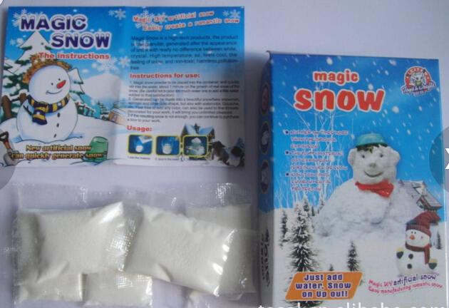 iWish Visual 2017 MS-A1 White Christmas Fake Instant Use Again Magic Grow Snow Powder Magical Growing Toys Like Ture For Kids Gifts