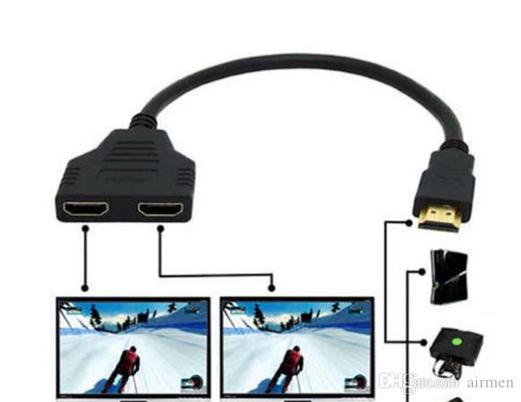 HDMI 3 in 1 Out Pigtail Adapter HDMI Auto Switch Extender Switcher Splitter Hub With Cable For HDTV 1080P Free DHL