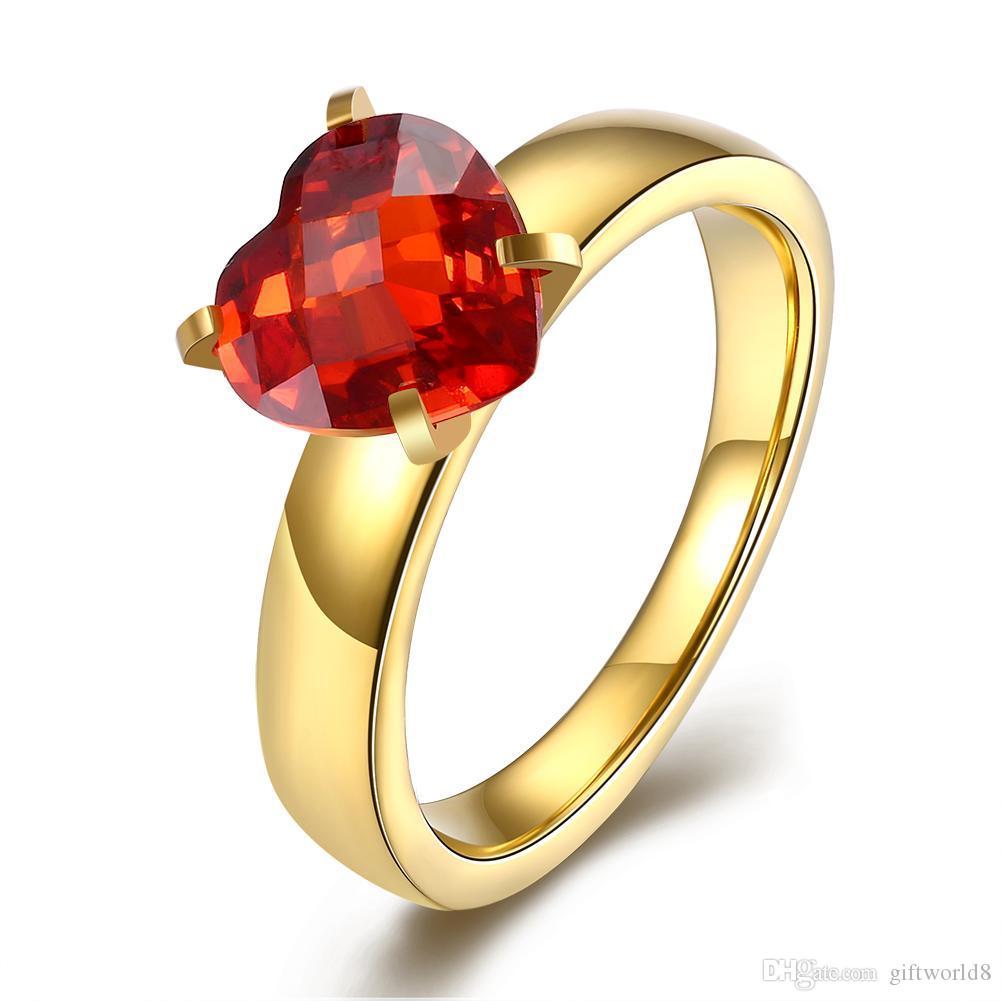Titanium Steel Series Of Rings Ladies Simple Type Inlaid Diamond ...