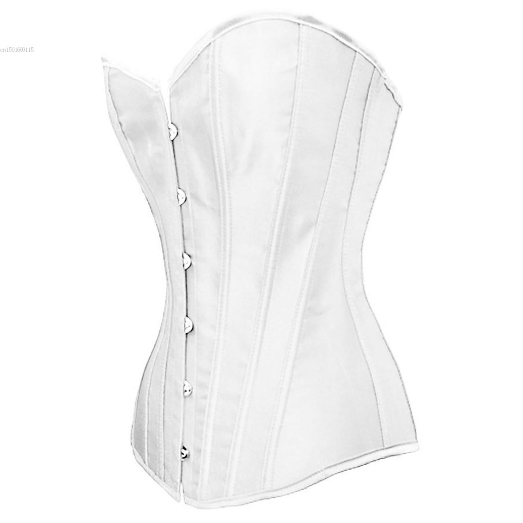 CALDO! Corsetti in ecopelle Corsetti sexy Donna Nero Corsetto a bustier in osso bianco con fiocco + G-string Set Lingerie Waist Traine Body