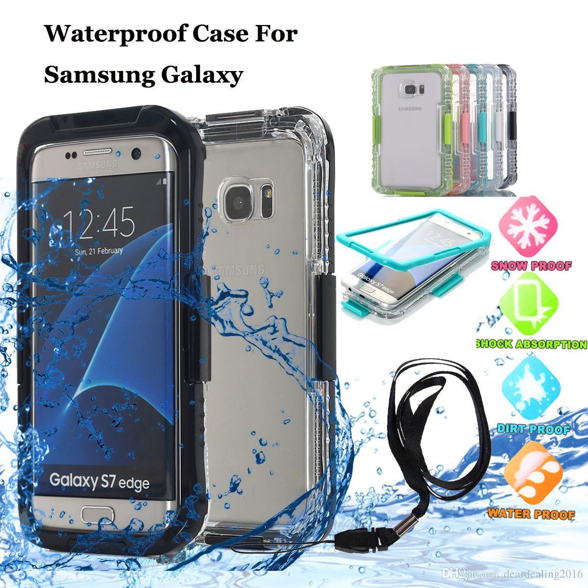 Полное Покрытие Подводное Плавание Доказательство Воды Случаи Противоударный Грязь Доказательство Водонепроницаемый Жесткий Чехол Для Samsung Galaxy S6 S7 Edge Plus Note3 4 Note5