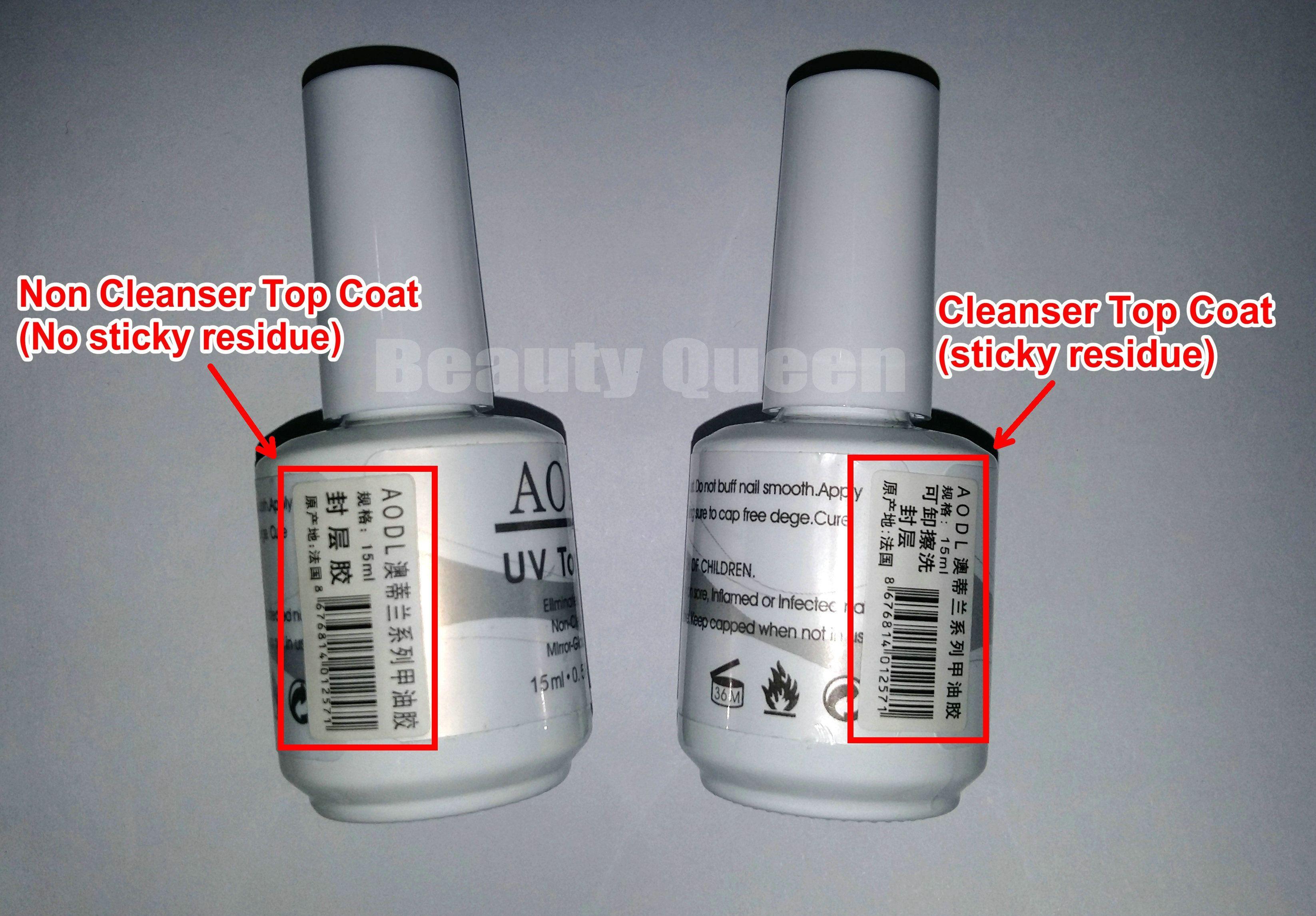 High Gloss * Cleanser Top Coat * Nach der Aushärtung schnell trocknend klebrig Salon Nail Art Tränken Sie den Top Coat für UV-Gelpoliermittel LED NEW * AODL