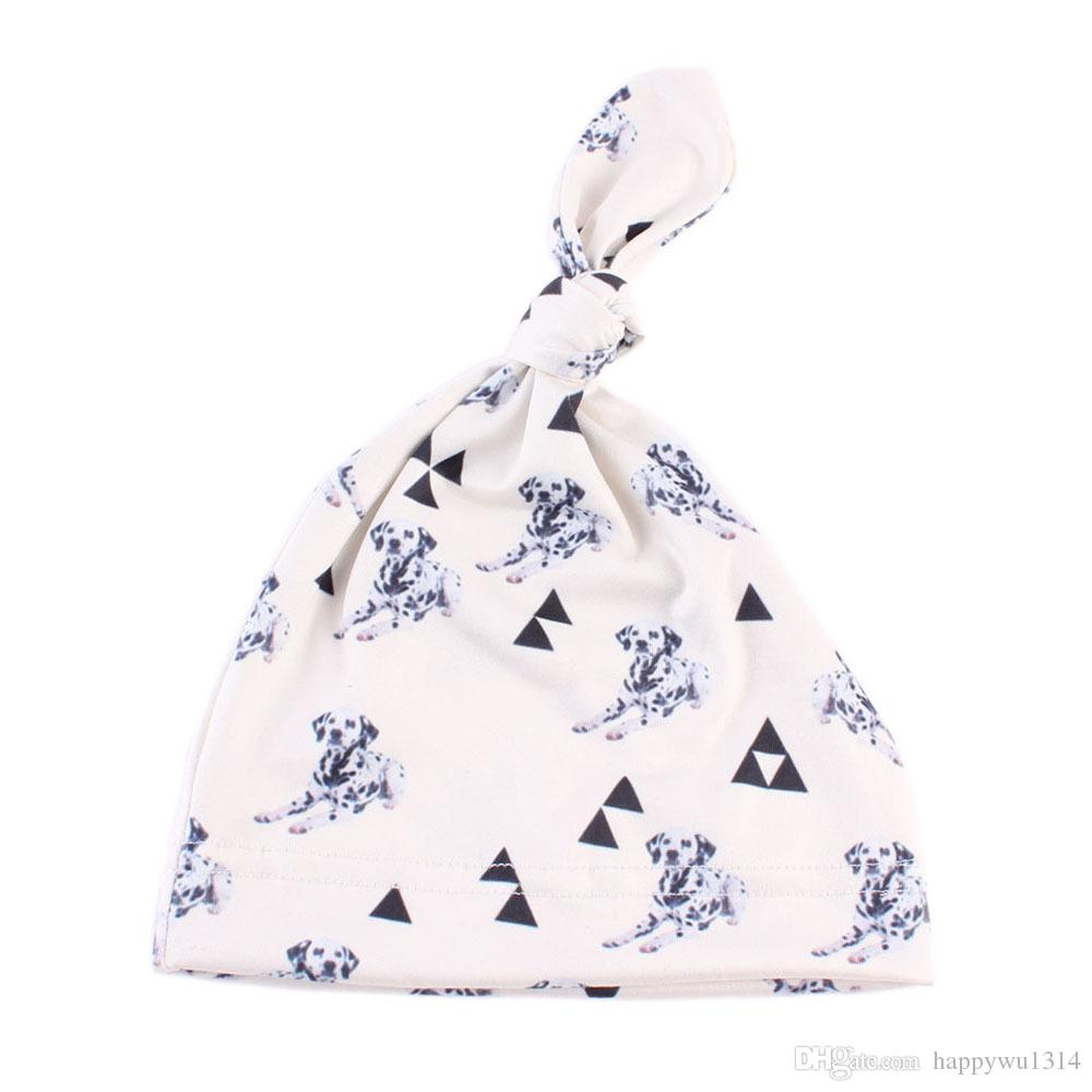 New Toddler Baby Cotton Bonnets Hats Cute Girls Beanie Hat Cartoon Animals Knitting Hedging Caps Autumn Winter Warm Hospital Cap For Newborn