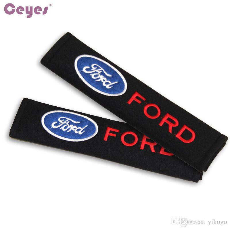 Ford Focus 2 için araba Emniyet Kemeri Kapak Omuz Pedleri 3 fiesta kuga mondeo ecosport mk2 Emniyet Kemeri Kapak Araba Styling 2 adet / grup