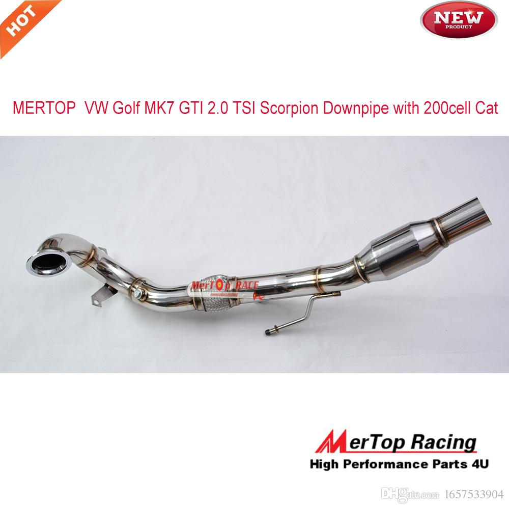 2018 Mertop Race High Flow Vw Golf Mk7 Gti 2 0 Tsi Downpipe 2013