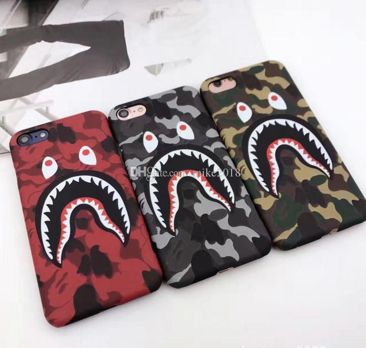 2018 Fashion Shark Case para iPhone8 8PLUS 7 6 6 s Plus Shark Army Funda para teléfono para iPhonex 6 6s PC duro mate Coque Fundas