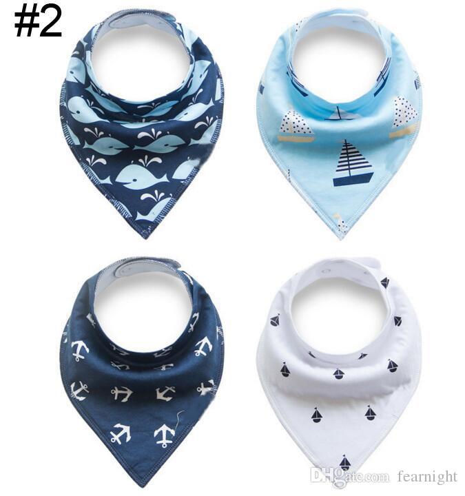 Novo design do bebê Algodão babadores, Macio e Absorvente bebê menina meninos panos de dupla camada bibs coágulo Unisex