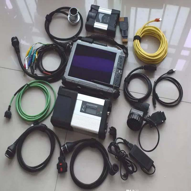 Top MB Star C5 SD Conenct c5 with for bmw icom next 2in1 together installed Laptop IX104 I7 tablet mini SSD super speed