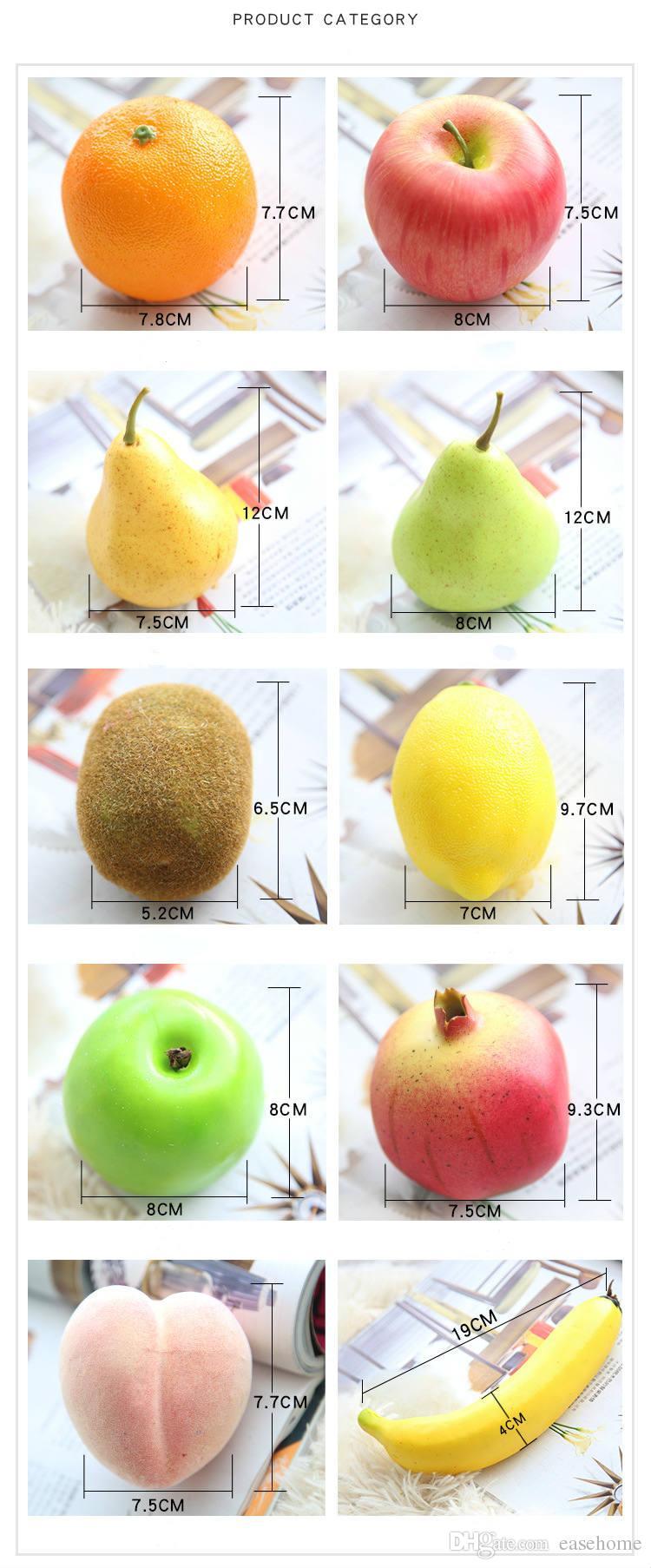Modelli di frutti a mano fatti a mano modelli di kiwi banana banana pesca mela limone la decorazione di casa negozi supermercati asilo nido