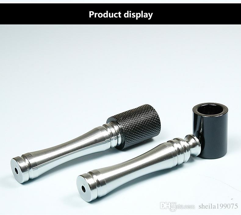 Мода курительные трубки металлические фильтровальные трубы 85 м металлические курительные портативные мини-трубы