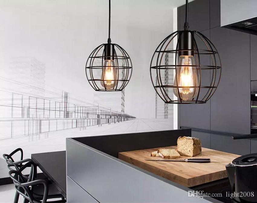 New arrivals Retro Iron Pendant Light Loft Lamps E27 Birdcage LED Industrial Pendant Lights Hanging Lamp Fixture Bar Cafe Restaurant Store