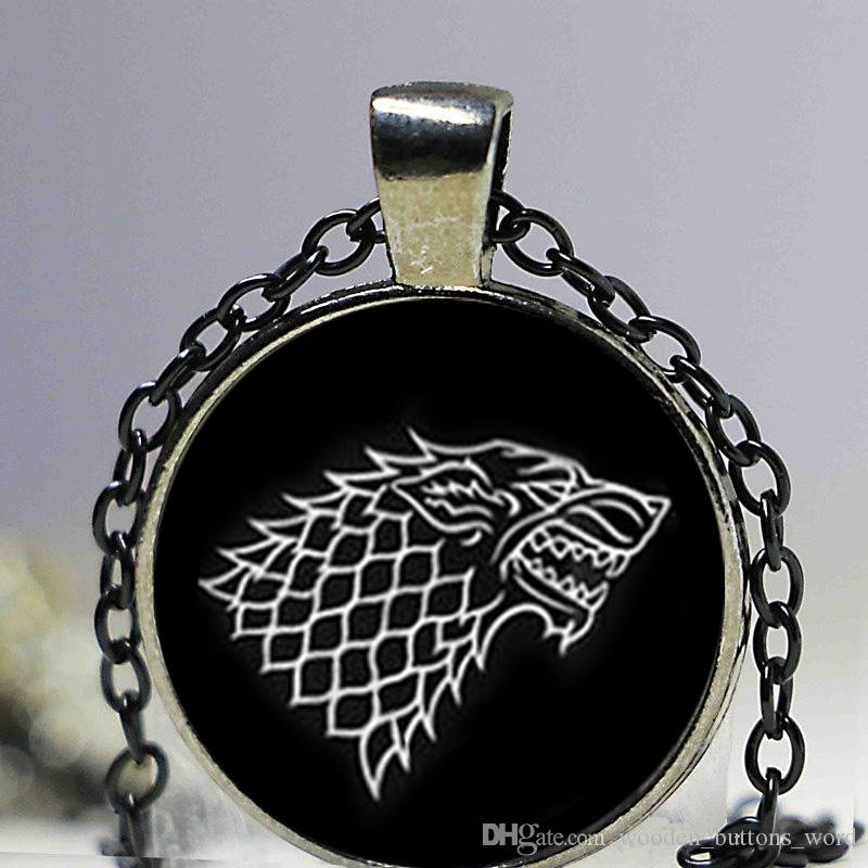 glass necklace Game of Thrones necklace House of Stark necklace men necklace high quality
