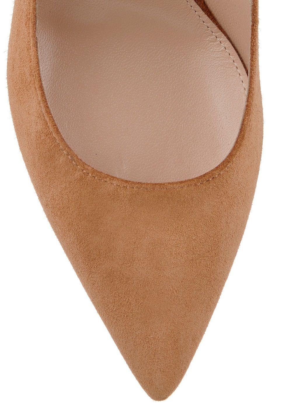 Zandina À La Main De Mode 8cm À Talons Hauts Escarpins Simple Style Slip-on Pointy Soirée De Mariage Stiletto Chaussures Marron K368