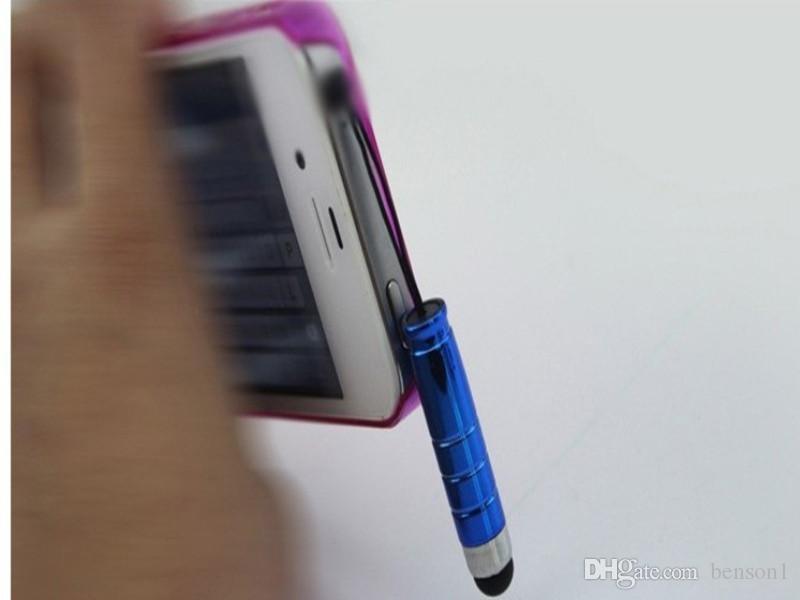 Écran tactile Pen avec bouchon anti-poussière avec 10 couleurs pour iPhone iPad pour Samsung capacitance écran tactile Tablet PC