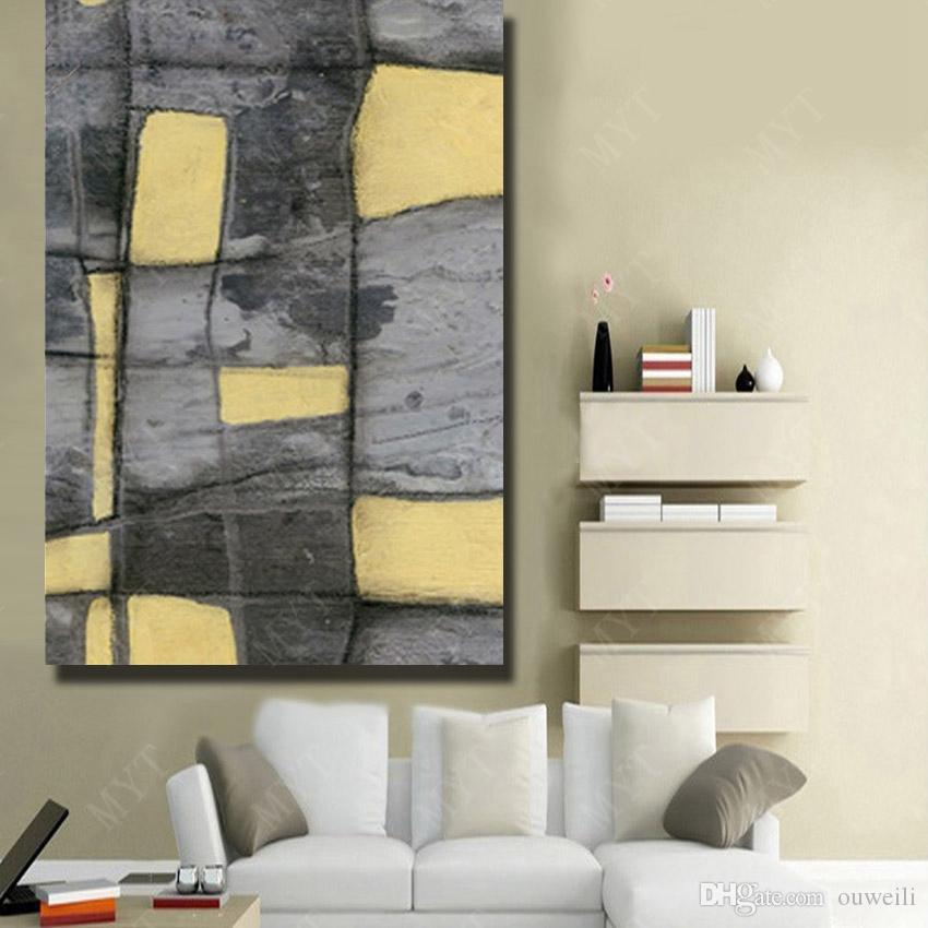 Hand made chinese famouse art simple design modern abstract painting decoration oil painting for living room