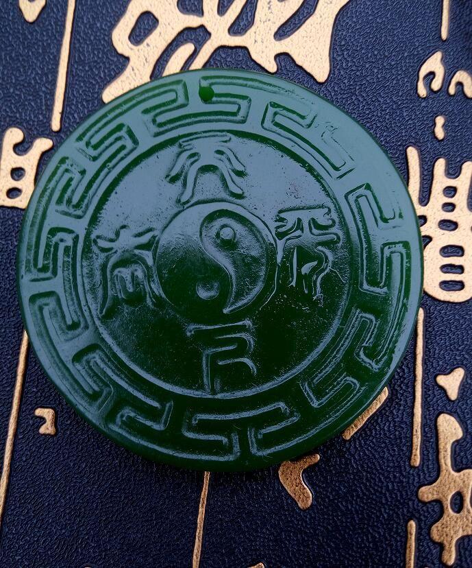 Spedizione gratuita Xinjiang Hotan giada antichi B117 della Cina