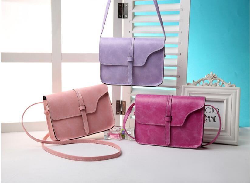 Moda Mini Küçük Kadınlar Messenger Çanta Rahat Kızlar Omuz Çantaları PU Deri Çapraz Vücut Çanta Satchel Çantalar