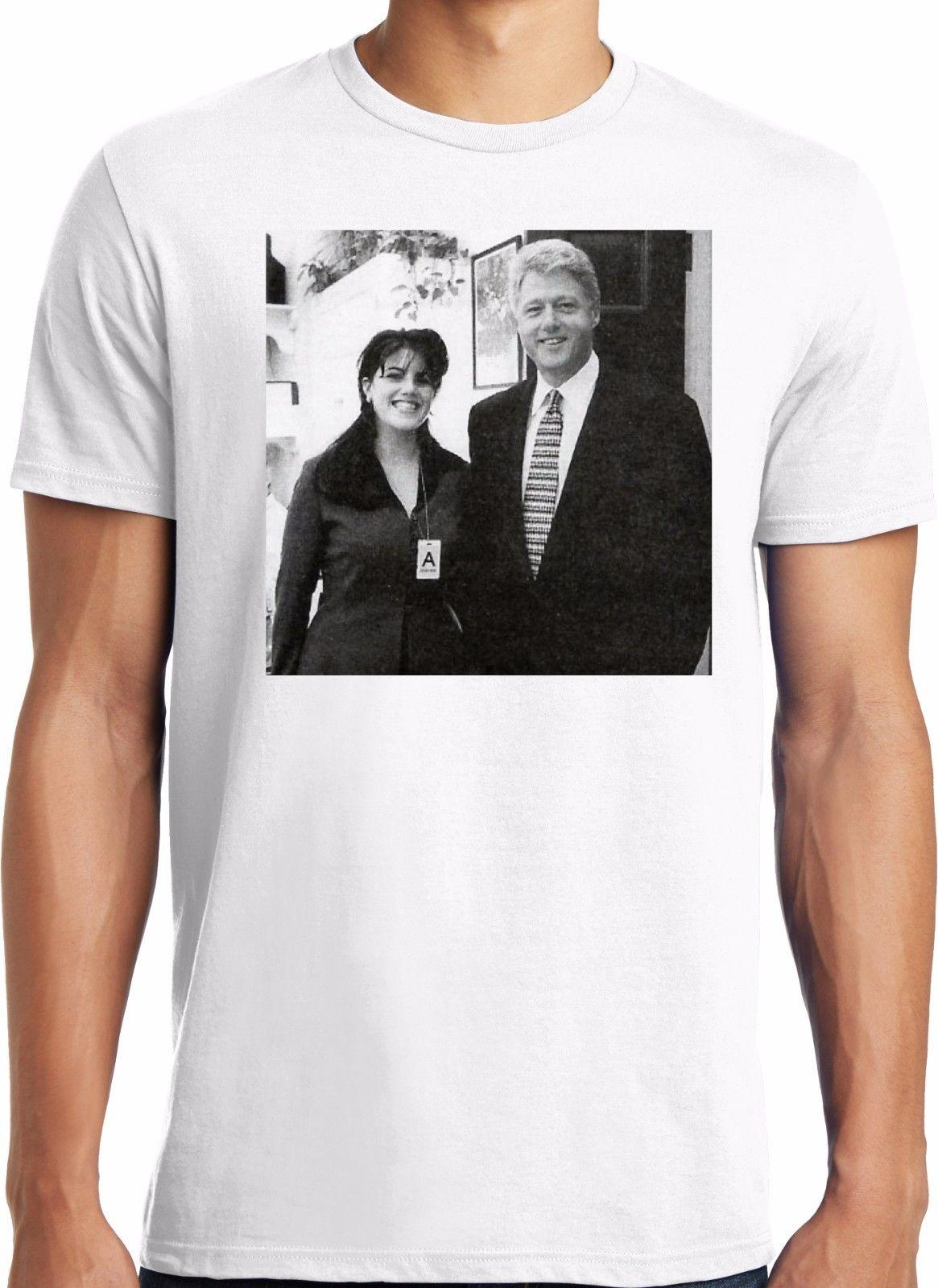be996d3389 PubliciTeeZ Bill Clinton Monica Lewinsky Adult Photo T Shirt S 3XL Style  Vintage Tees Short Sleeve Funny Shirts With Design Unique T Shirts For Sale  From ...