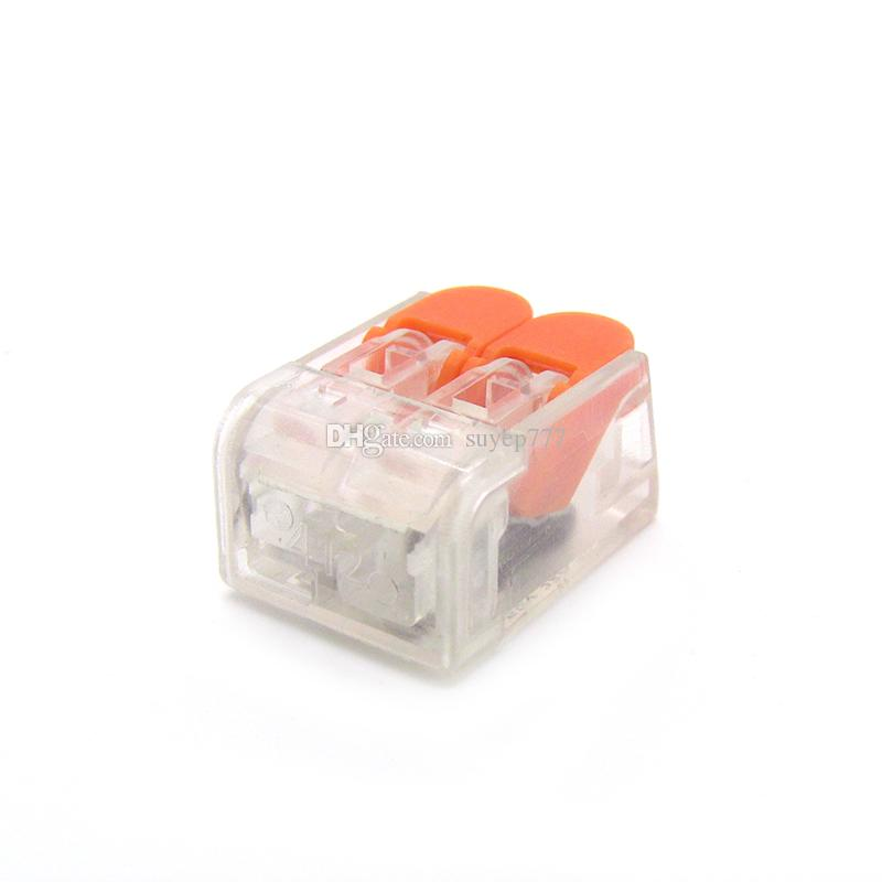 PCT-412 221-412 High Quality Compact Splicing Connector 450 V 24-12 AWG 2 pin cable clamp Terminal Blocks