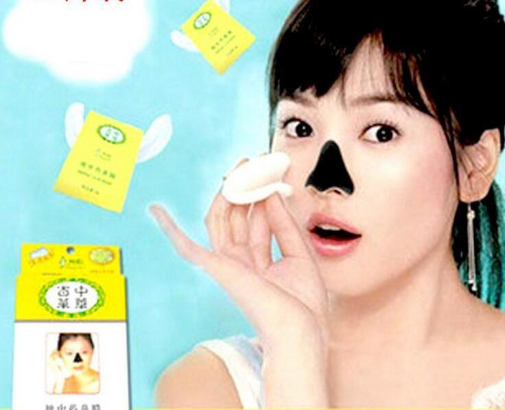 Frete grátis 100 pçs / lote Cosmetologia Membrana Nasal Herbal Conk Máscara Julep Poros Limpos acne membrana Nasal lama colar
