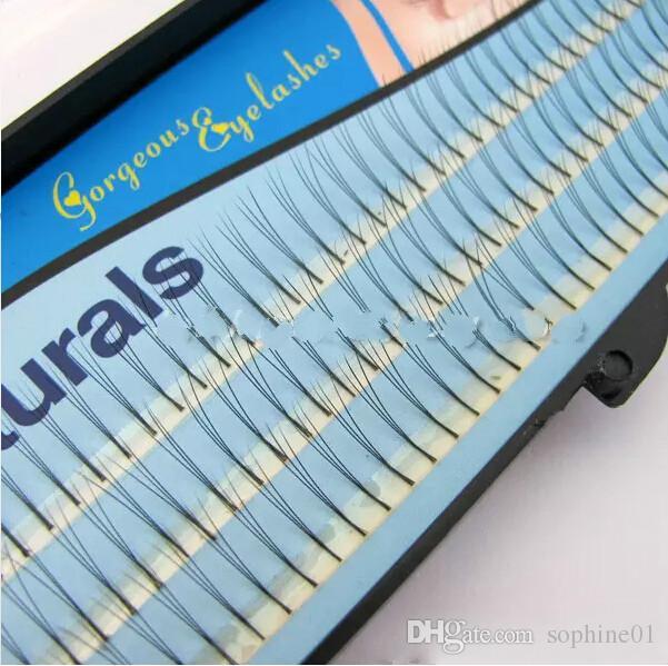 Wholesale New 3 Trays 102 D-Lash Curl Natural Black Individual False Eyelashes Extension 12mm 10mm 8mm