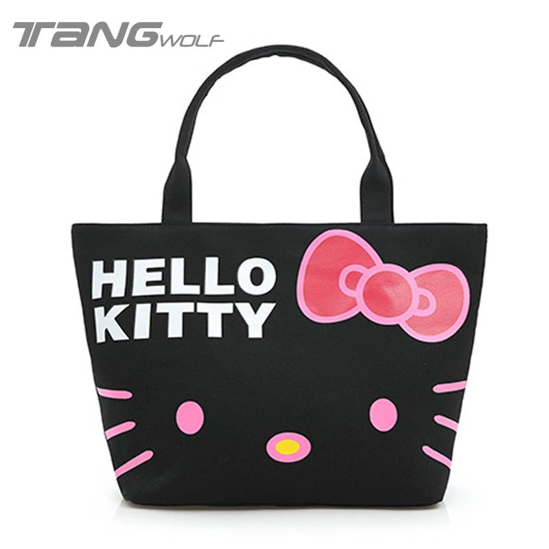 Tang Wolf Women Bag Hello Kitty Shopping Bags Ladies Shoulder Bags ...