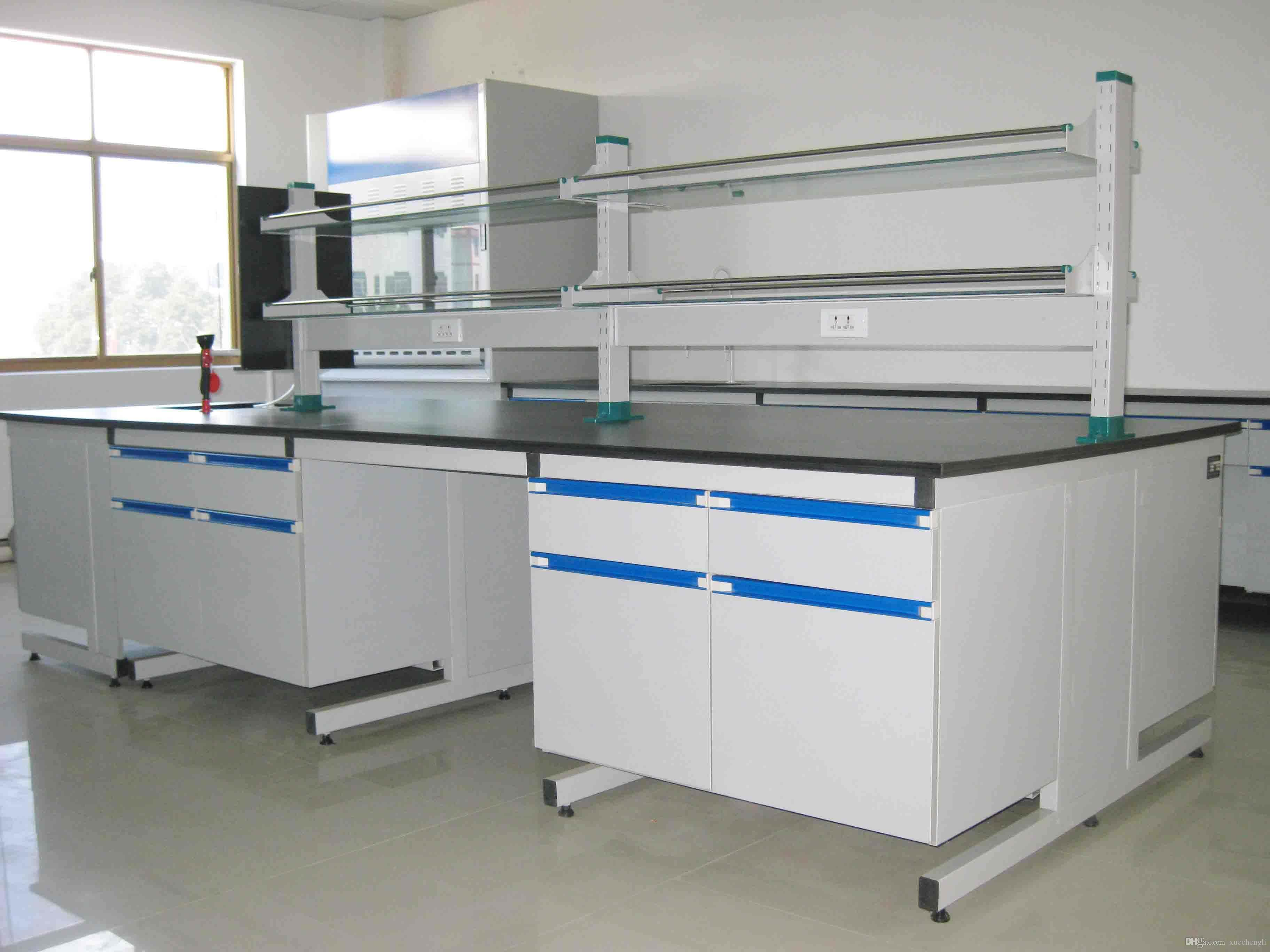 Acquista banco da lavoro centrale da laboratorio in legno da banco