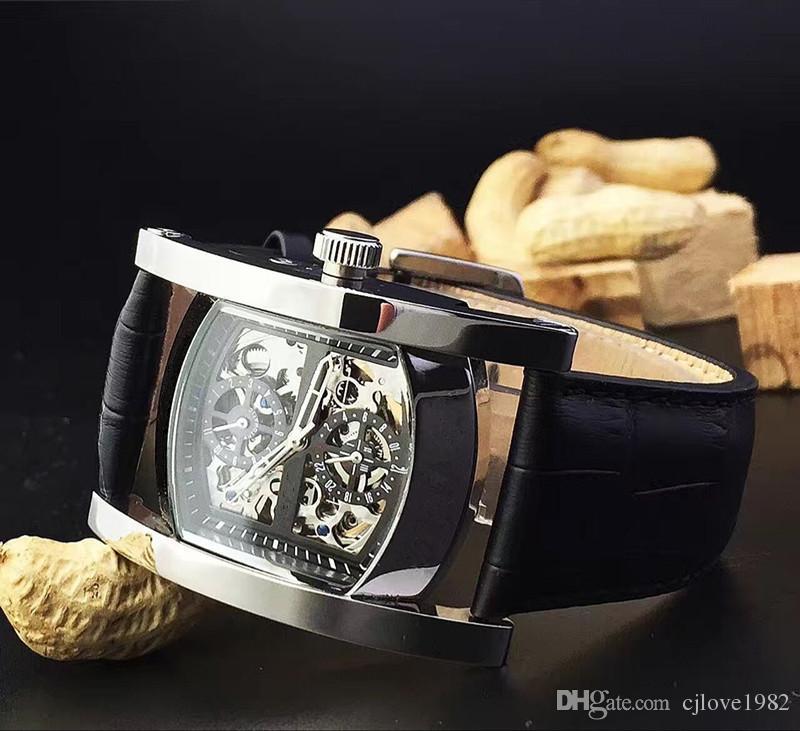 Orologio da polso da uomo classico moderno di alta qualità. Display in 24 ore tramite specchio posteriore ad arco minerale resistente all'usura BGL