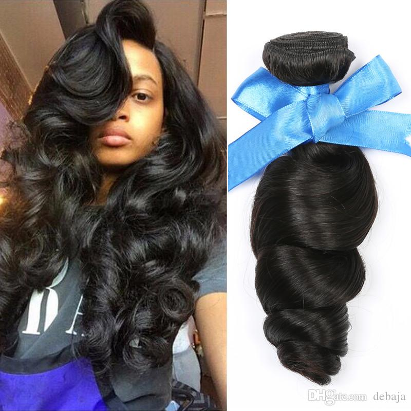 2018 Loose Wave Hair Weft Crochet Human Hair Weaves Bundles ...