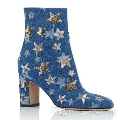 ladies ankle boots with zipper winter mantin boots women chhunky heels hight heels strat pointed toe short shoes