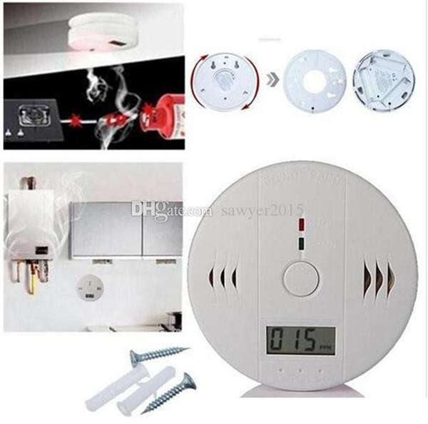 CO Carbon Monoxide Detector Alarm System For Home Security Poisoning Smoke Gas Sensor Warning Alarms Tester with LCD Display