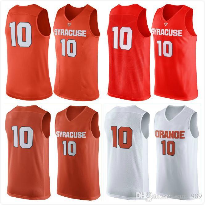 2019 2016 New No 10 Syracuse Orange Men College Basketball Jersey