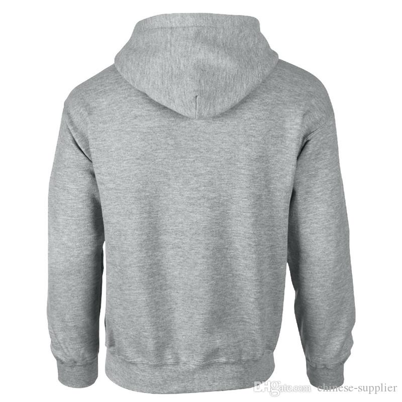 Neue Mode Blank Einfarbig Mens Frauen Unisex Hoodies Sweatshirts Hip Hop Hoodie Schwarz Rot Grau Blau Jacke Männer Kleidung Hombre Mit Kapuze Tops