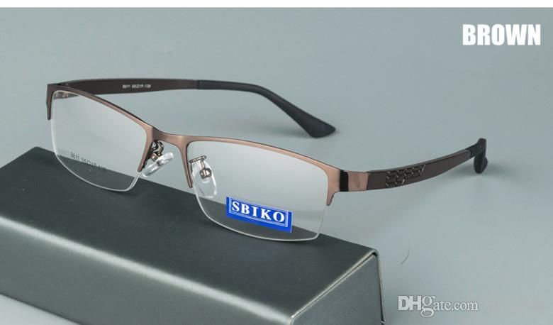 fashion concise design super light optical mental glasses TR90 temple half-rim rectangular male frame eyeglasses F8611